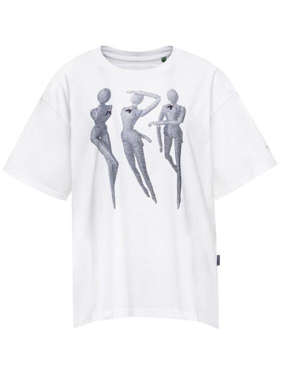 G-Star RAW G-Star RAW T-Shirt D15249-336-110 Λευκό Regular Fit