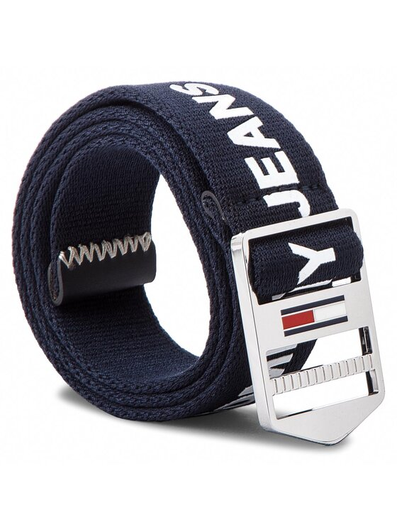 Tommy Jeans Tommy Jeans Ceinture femme Tjw Driving Webbing AW0AW05569 75 Bleu marine