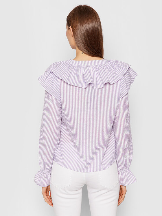 Vero Moda Vero Moda Koszula Puri Striped 10265958 Fioletowy Regular Fit