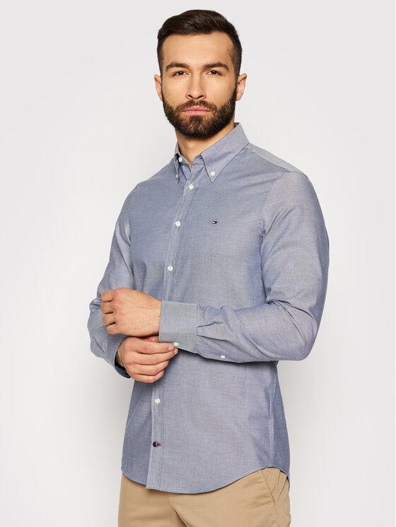 Tommy Hilfiger Tailored Marškiniai Oxford MW0MW16485 Tamsiai mėlyna Slim Fit