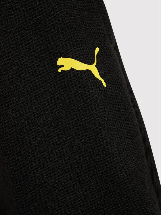 Puma Puma Spodnie dresowe PEANUTS 586134 Czarny Regular Fit