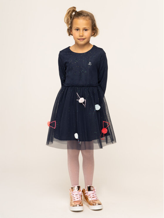 Billieblush Elegantiška suknelė U12523 Tamsiai mėlyna Regular Fit