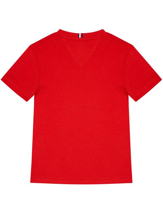 Tommy Hilfiger Tommy Hilfiger T-Shirt Graphic KB0KB06518 M Czerwony Regular Fit