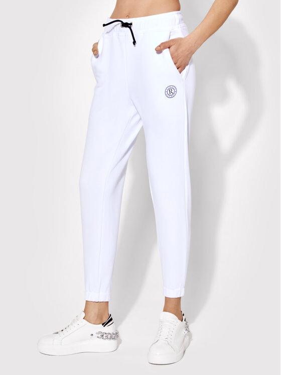 Rage Age Spodnie dresowe Clio 02 Biały Slim Fit