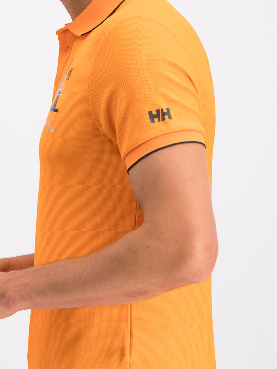 Helly Hansen Helly Hansen Polo Hp Racing 53012 Pomarańczowy Slim Fit