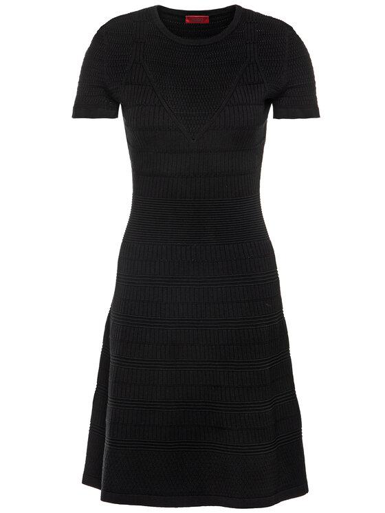 Hugo Hugo Úpletové šaty Satoriny 50426965 Čierna Regular Fit