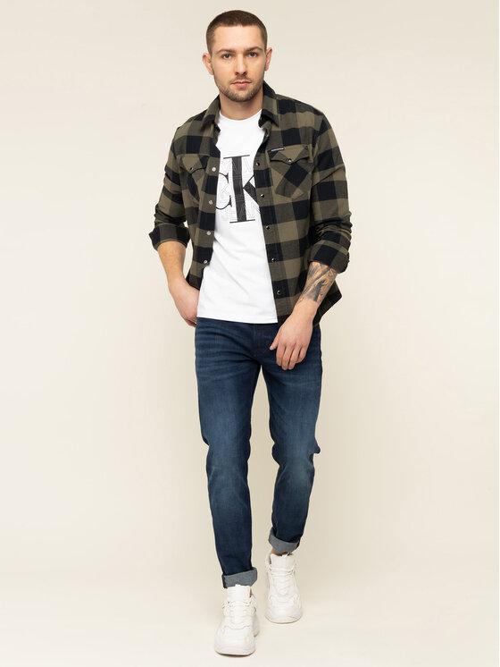 Calvin Klein Jeans Calvin Klein Jeans T-Shirt CK Graphic J30J314229 Biały Slim Fit