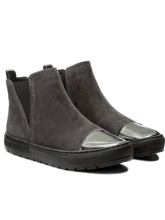 Geox Geox Členková obuv s elastickým prvkom D Breed E D642QE 00022 C9004 Sivá