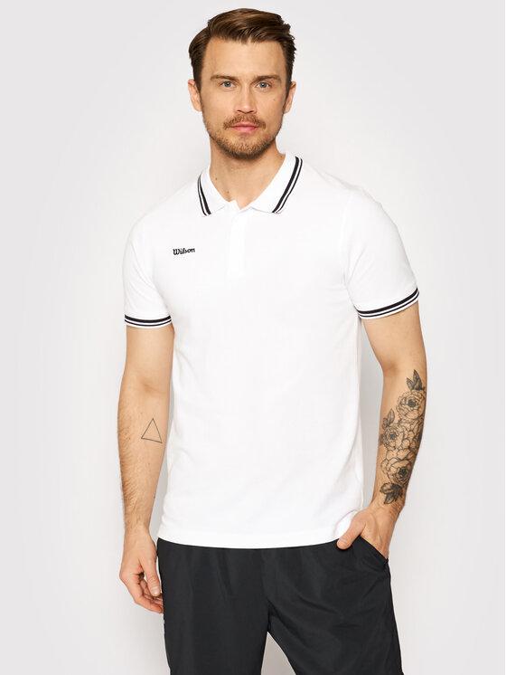 Wilson Polo marškinėliai M Team Ii WRA794301 Balta Regular Fit