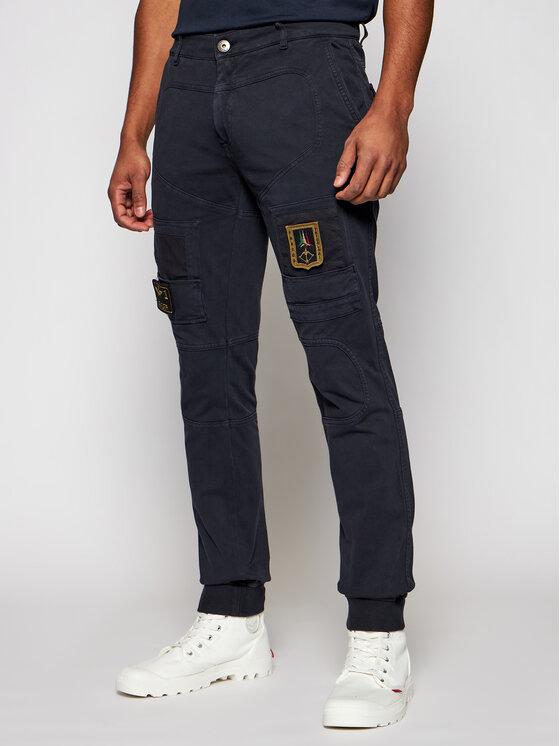 Aeronautica Militare Jogger kelnės 211PF743J217 Tamsiai mėlyna Slim Fit