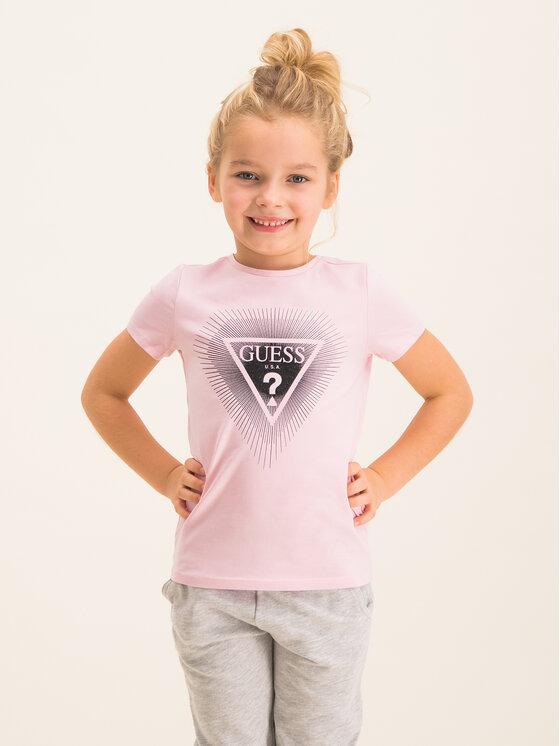 Guess Guess T-Shirt K93I00 K82K0 Ροζ Regular Fit