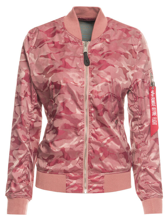 Alpha Industries Alpha Industries Geacă bomber Ma-1 Vflw Shiny Como 186014 Roz Slim Fit