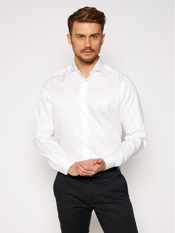 Emanuel Berg Marškiniai Harvard PWB46890 Balta Modern Fit