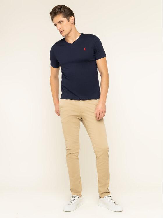 Polo Ralph Lauren Polo Ralph Lauren T-Shirt 710671453091 Granatowy Custom Slim Fit
