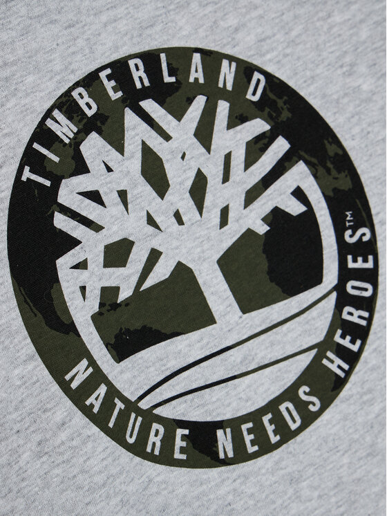 Timberland Timberland Bluzka T25R10 D Szary Regular Fit