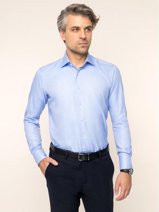 Emanuel Berg Marškiniai Mcr-Mr. Crown PEB46593 Mėlyna Slim Fit