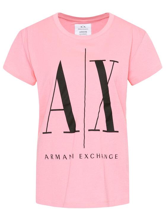 Armani Exchange Armani Exchange Tričko 8NYTCX YJG3Z 1475 Ružová Regular Fit