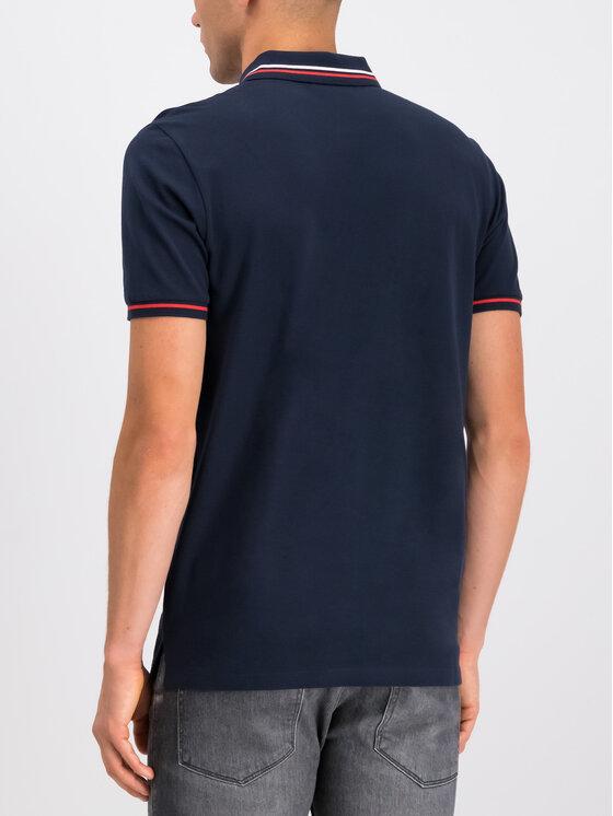 Hugo Hugo Тениска с яка и копчета 50414224 Тъмносин Regular Fit