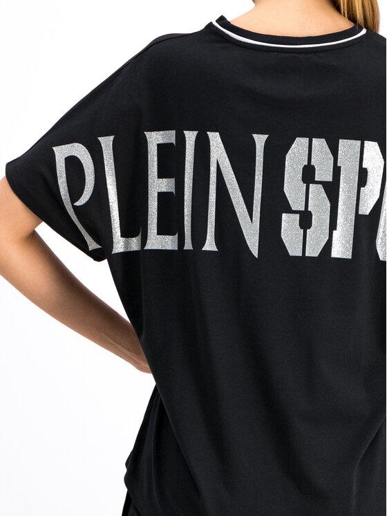 Plein Sport Plein Sport T-Shirt F19C WTK1604 STE003N Μαύρο Oversize