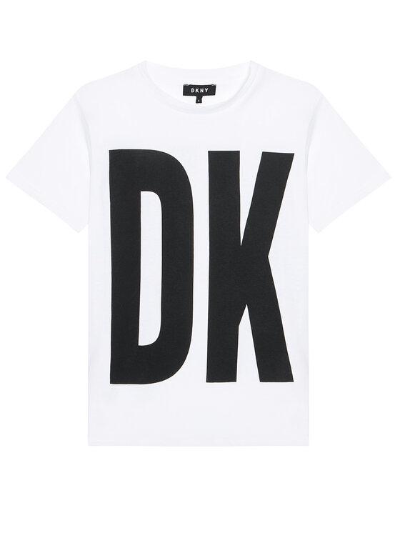 DKNY DKNY Sukienka codzienna D32777 S Biały Regular Fit