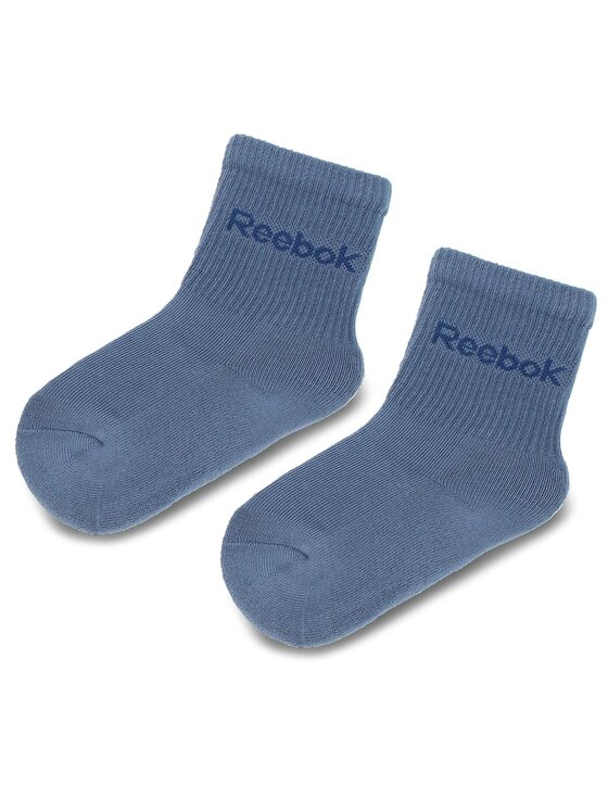 Reebok Reebok Σετ ψηλές κάλτσες παιδικές 3 τεμαχίων Kids Boy Crew 3x2 DA1242 Σκούρο μπλε