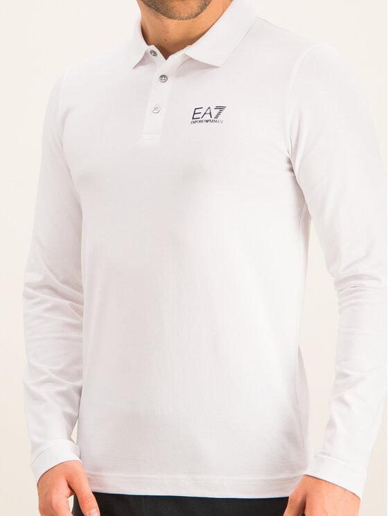 EA7 Emporio Armani EA7 Emporio Armani Polokošeľa 8NPF05 PJM5Z 1100 Biela Regular Fit