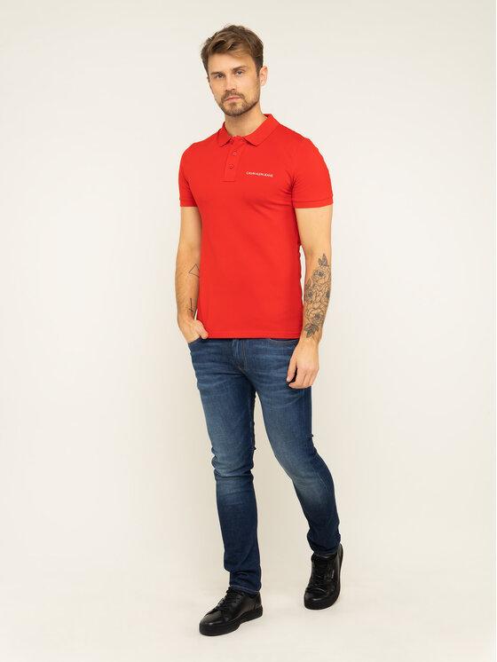 Calvin Klein Jeans Calvin Klein Jeans Pólóing Deep Depths J30J314538 Piros Regular Fit