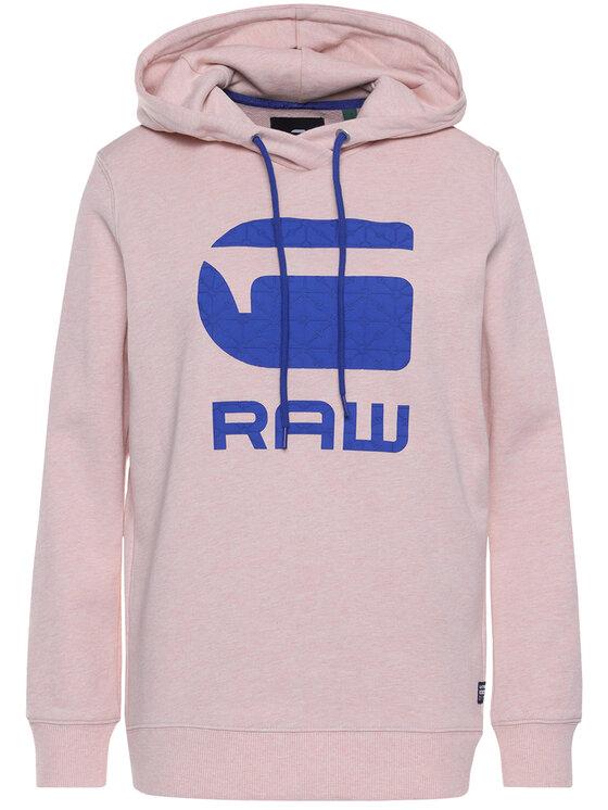 G-Star Raw G-Star Raw Džemperis Boyfriend Diamond Line Graphic Hooded D16236-A613-B243 Rožinė Loose Fit