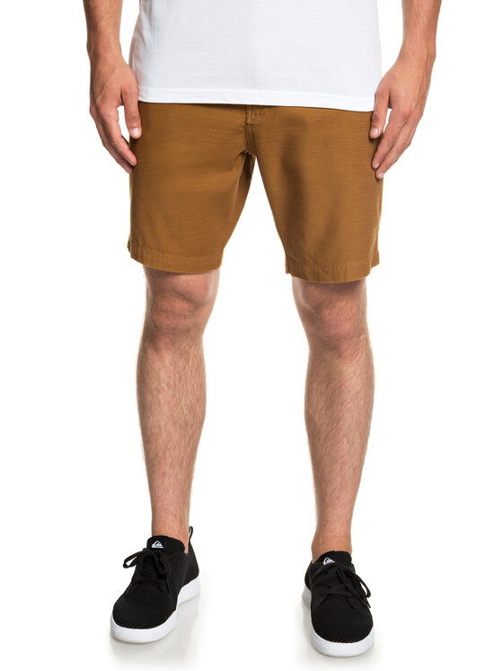 Quiksilver Quiksilver Pantaloncini di tessuto EQYWS03576 Marrone Straight Tapered Fit