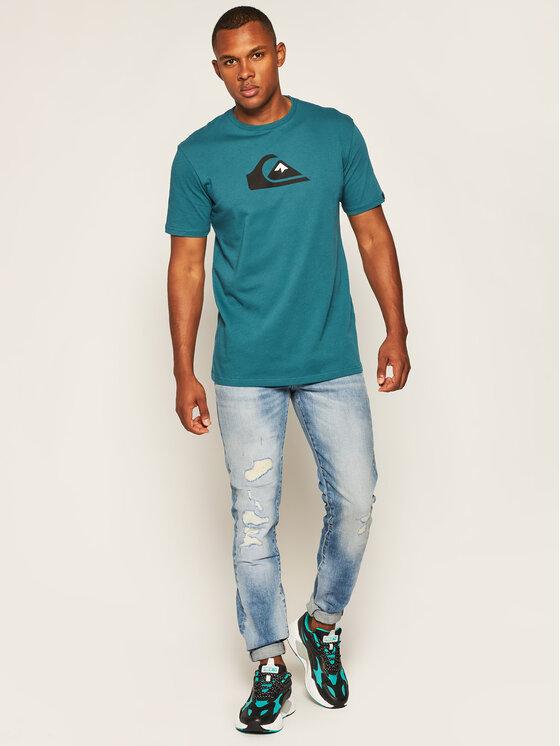 Quiksilver Quiksilver T-Shirt Comp Logo EQYZT06056 Zelená Regular Fit