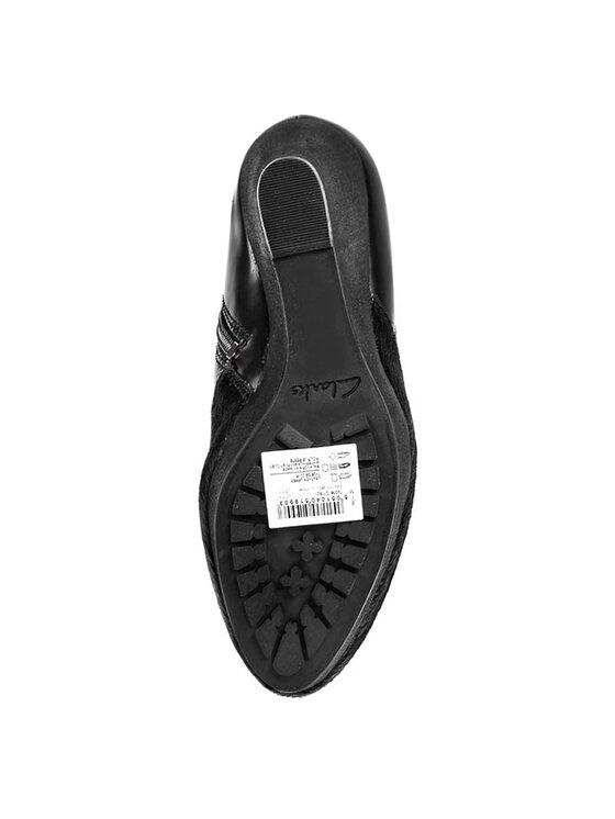 Clarks Clarks Členková obuv Note Crisp 261039394 Čierna