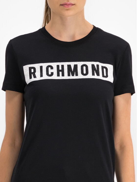 John Richmond John Richmond T-Shirt RWP19028TS Czarny Regular Fit