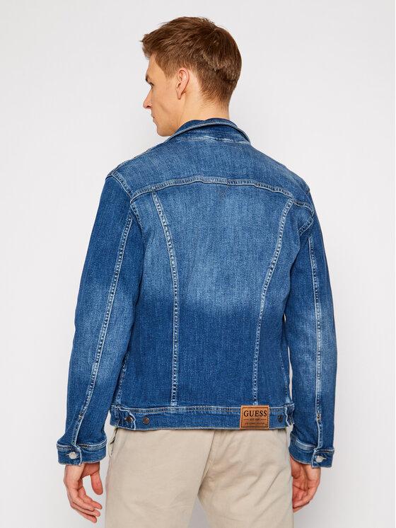 Guess Guess Kurtka jeansowa William M1RN14 D4B71 Niebieski Regular Fit