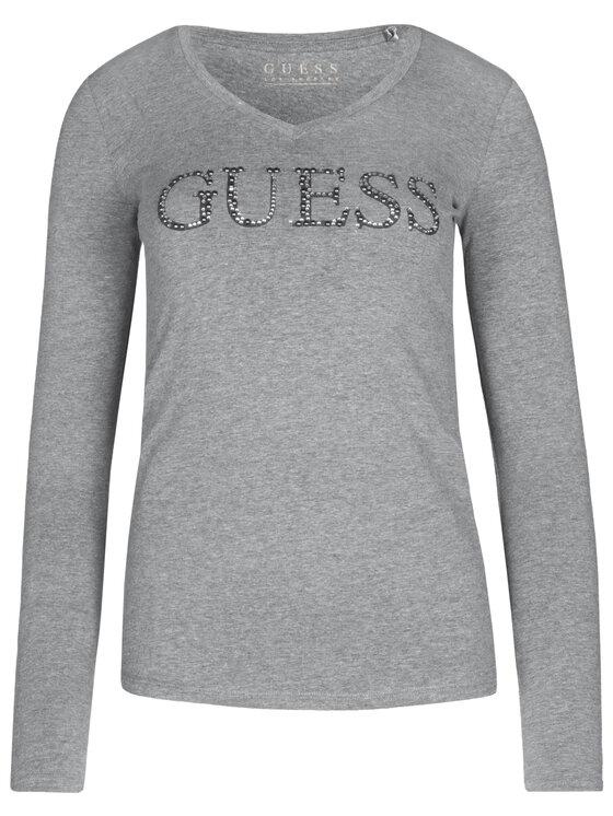 Guess Guess Μπλουζάκι W93I70 J1300 Γκρι Slim Fit