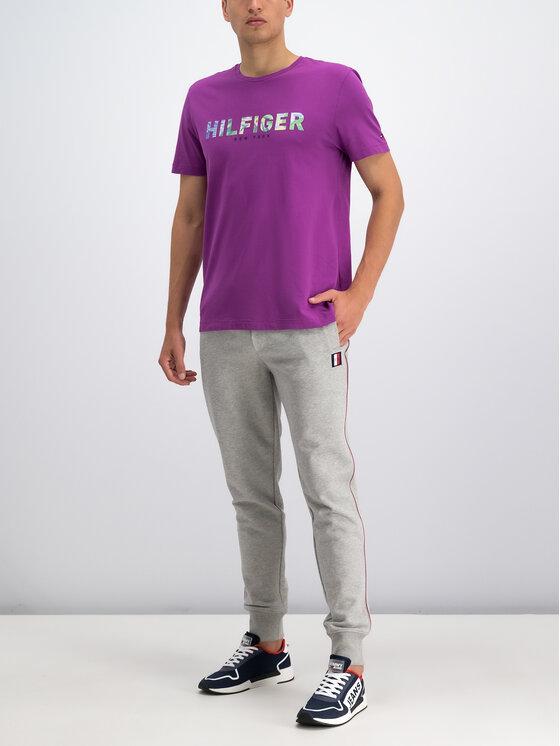 Tommy Hilfiger Tommy Hilfiger T-Shirt MW0MW10811 Fioletowy Regular Fit