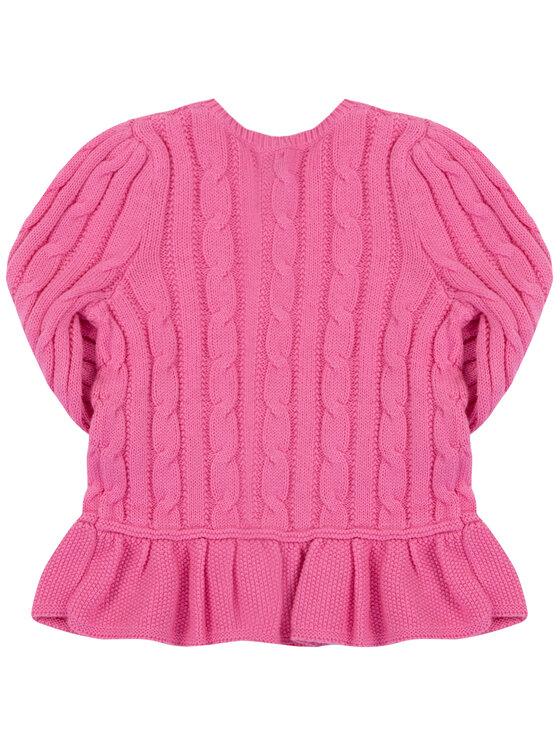 Polo Ralph Lauren Polo Ralph Lauren Sweter Peplum 313737911 Różowy Regular Fit