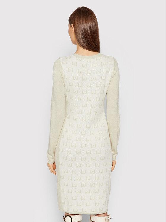 Liu Jo Sport Liu Jo Sport Džemper haljina TF1186 MA831 Bež Regular Fit