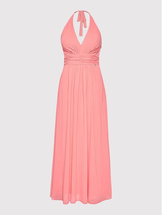 Rinascimento Rinascimento Sukienka wieczorowa CFC0103373003 Różowy Regular Fit