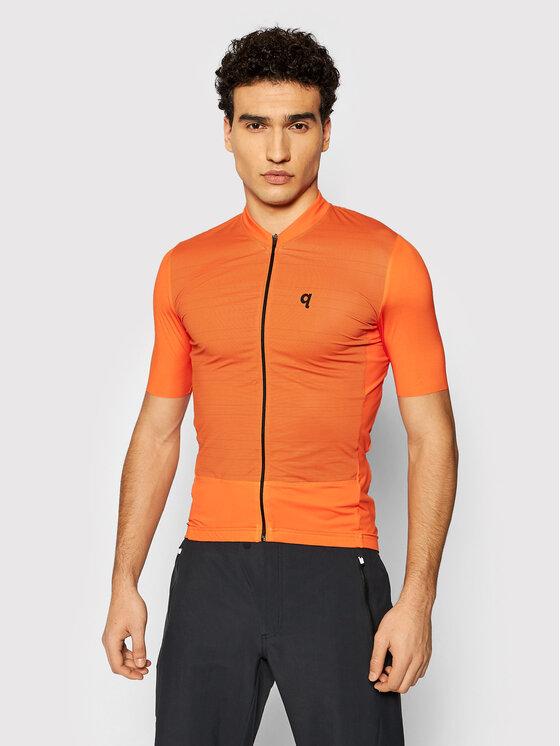 Quest Dviratininko marškinėliai Adventure Oranžinė Race Fit