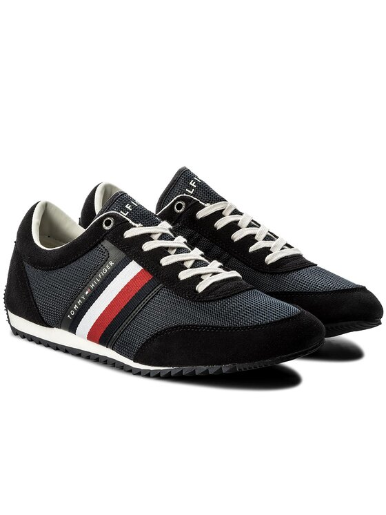 Tommy Hilfiger Tommy Hilfiger Laisvalaikio batai Corporate Material Mix Runner FM0FM01314 Tamsiai mėlyna