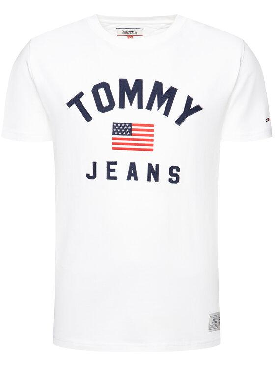 Tommy Jeans Tommy Jeans T-Shirt American Flag DM0DM07068 Weiß Regular Fit