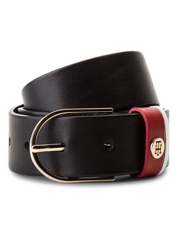 Tommy Hilfiger Tommy Hilfiger Cintura da donna New Classic Belt 3.5 AW0AW05578 75 Blu scuro