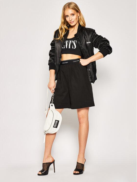 Calvin Klein Calvin Klein Medžiaginiai šortai Washed Tencel K20K201770 Juoda Regular Fit