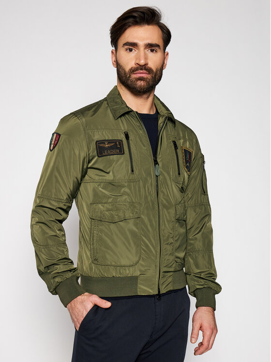 Aeronautica Militare Demisezoninė striukė 211AB1719CT2098 Žalia Regular Fit