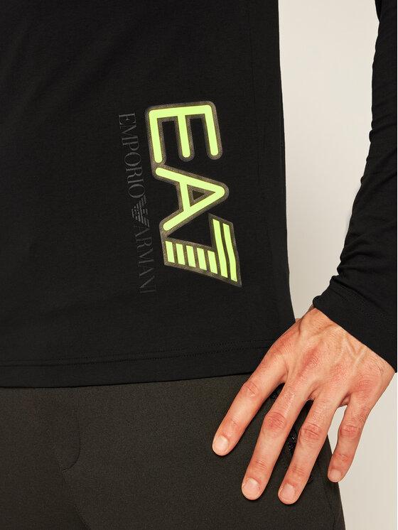 EA7 Emporio Armani EA7 Emporio Armani Marškinėliai ilgomis rankovėmis 6HPT64 PJ03Z 1200 Juoda Regular Fit