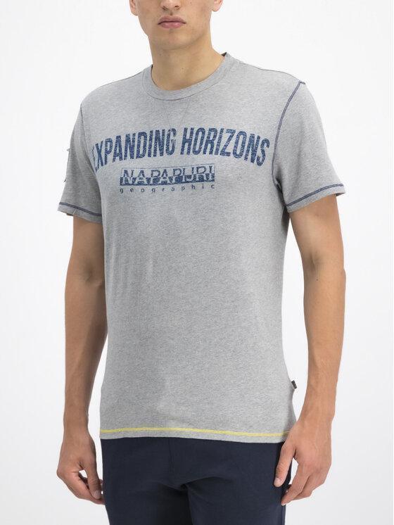 Napapijri Napapijri T-Shirt Selize N0YIFP Szary Regular Fit
