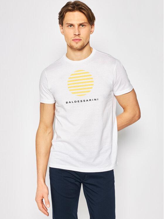 Baldessarini Marškinėliai Tino 47401/000/5357 Balta Modern Fit