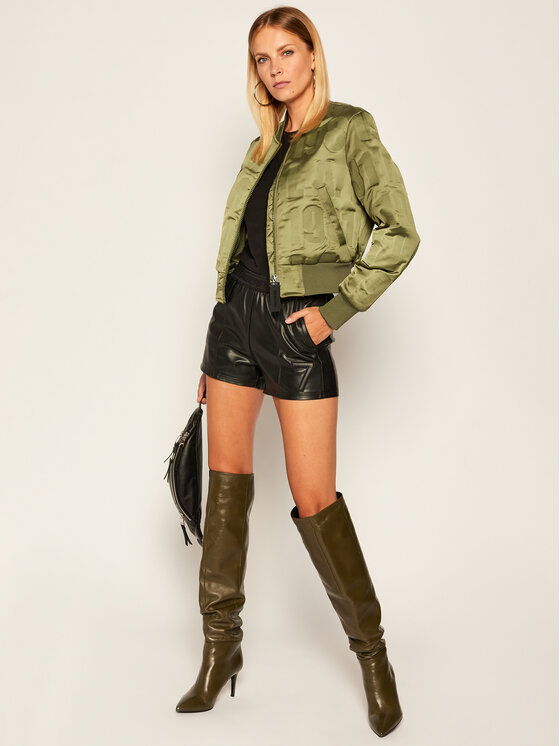 Guess Guess Geacă bomber Elly W0YL59 WD1V0 Verde Regular Fit