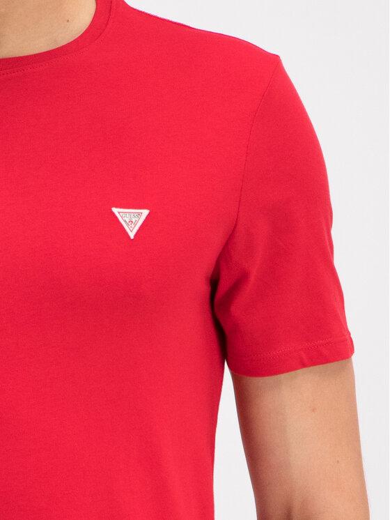 Guess Guess Tričko M93I60 I3Z00 Červená Slim Fit