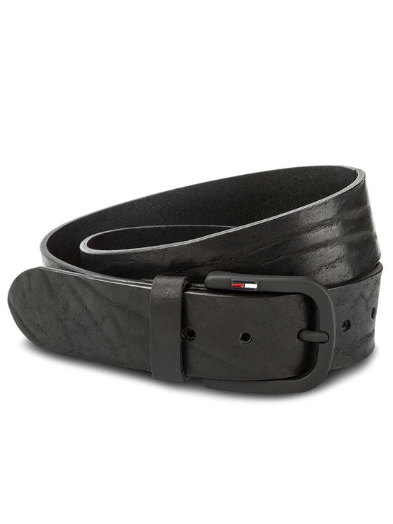 Tommy Jeans Tommy Jeans Pasek Męski Tjm Rubberized Buckle Belt 4.0 AM0AM03285 85 Czarny